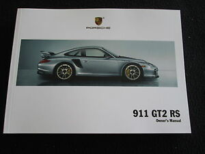 2011 porsche 911 gt2 rs owner s manual limited edition 997 turbo us rh ebay co uk 2019 Porsche GT3 RS 2016 porsche gt3 rs owners manual