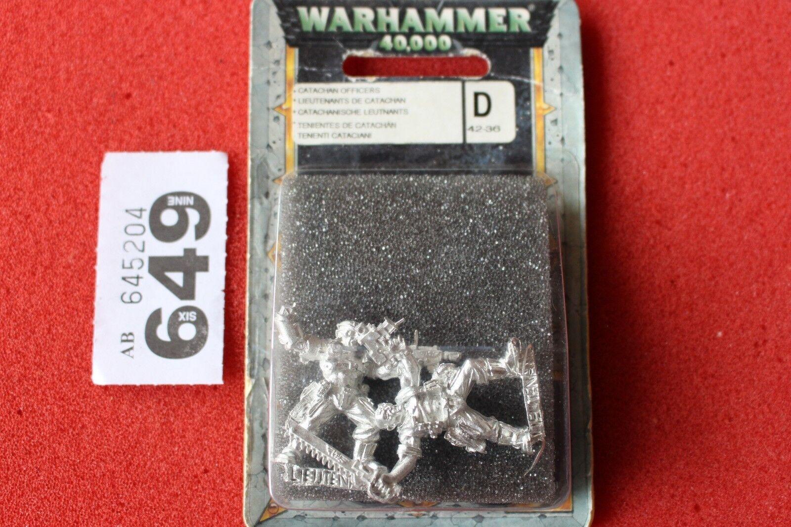 Games Workshop Warhammer 40k Catachan Officers Lieutenants Sergeants Metal New