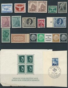 Lot-Stamp-Germany-Bohemia-Netherland-Italy-Feldpost-WWII-3rd-Reich-Hitler-Faults
