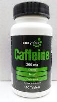 Bodylogix Caffeine Pills200mg100 Tabletsnew-sealed Free Ship