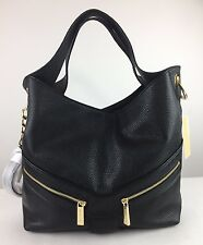 NWT $368 MICHAEL KORS Jamesport Large Shoulder Tote Black Leather Hobo Bag