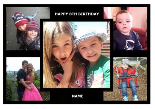 """A3 16/""""X11/"""" PERSONALISED MULTIPLE CUSTOM MADE PICTURE PHOTO EDIBLE CAKE TOPPER"""