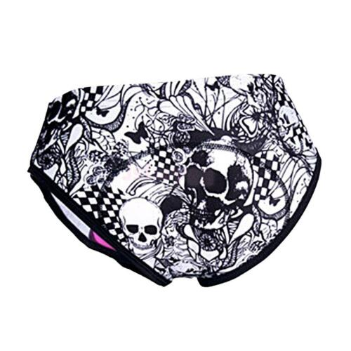 Womens Cycling Underwear Bike Skull Briefs Padded Bicycle Shorts//Underpants