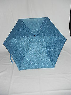 3467 Pencil Slim Print Shelta Compact Rain Sun Umbrella Auto Open//Close