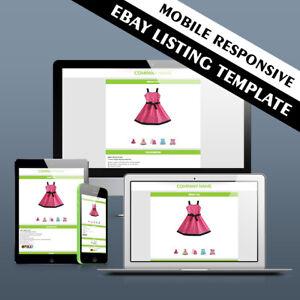 Ebay Template Responsive Professional Listing Design Auction Html Mobile 2019 5060608010189 Ebay