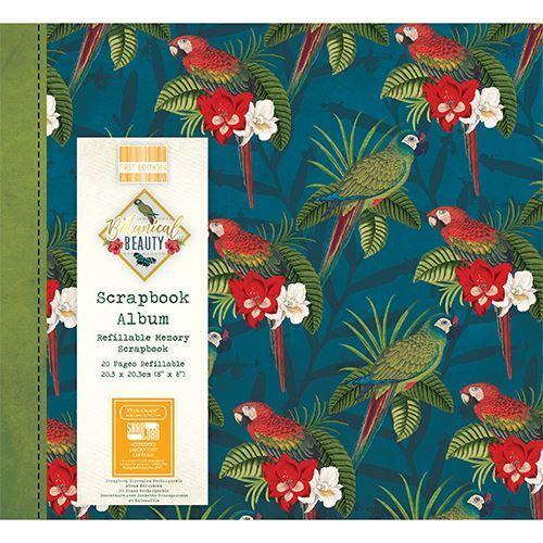 "Botanical Beauty Scrapbook Craft Memory Photo Snapload Album 8x8/"" Tropical"