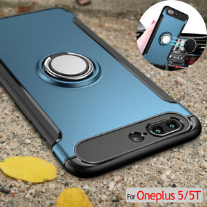 separation shoes abad1 829cf Details about Luxury Metal Ring Magnetic Shockproof Kickstand Thin For  Oneplus 5/5T Cover Case