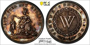 SWITZERLAND-Silver-Medal-ND-E-19TH-CENTURY-PCGS-SP62-Appel-3295