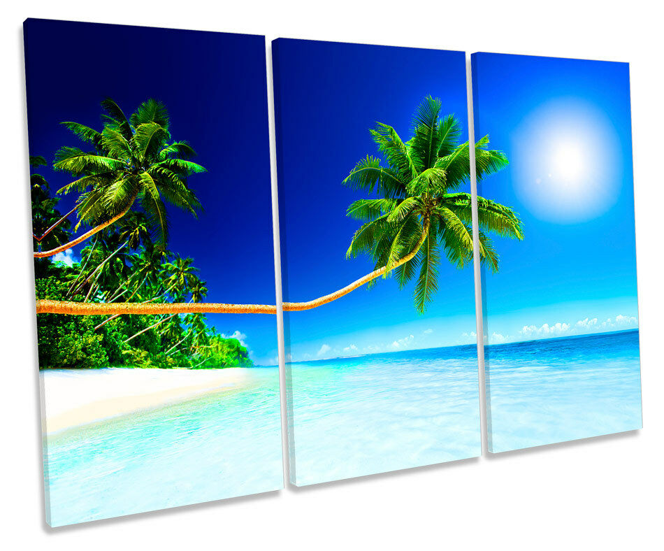 Paradise Spiaggia Tropicale a Muro Art Stampa Stampa Stampa CORNICE Scatola degli acuti d88932