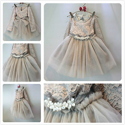 Baby Newborn Girls Tutu Lace Dress Infant Toddler Skirt Children Clothes Party