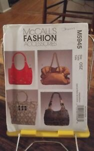 Oop-Mccalls-Fashions-5945-handbags-4-styles-lined-shoulder-strap-13-14-5-034-NEW