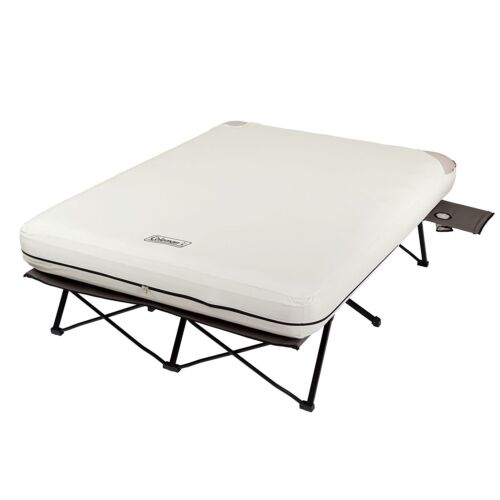 Coleman Queen Size Airbed Cot Steel Frame Camping Sleeper Bed W// Pump Included