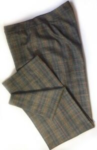 Lafayette-148-New-York-Womens-Barrow-Dress-Career-Pants-Brown-Plaid-Wool-12
