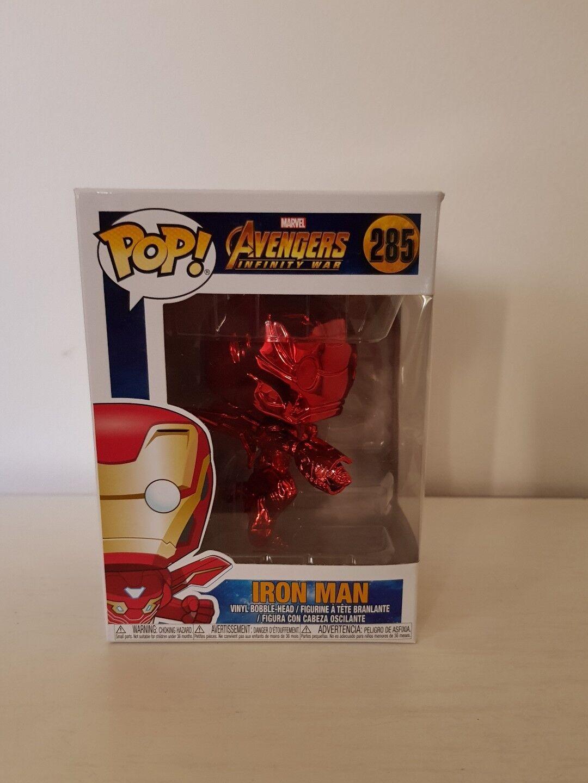 Pop Avenger Infinity war - Iron Man Flying rosso Chrome Ex
