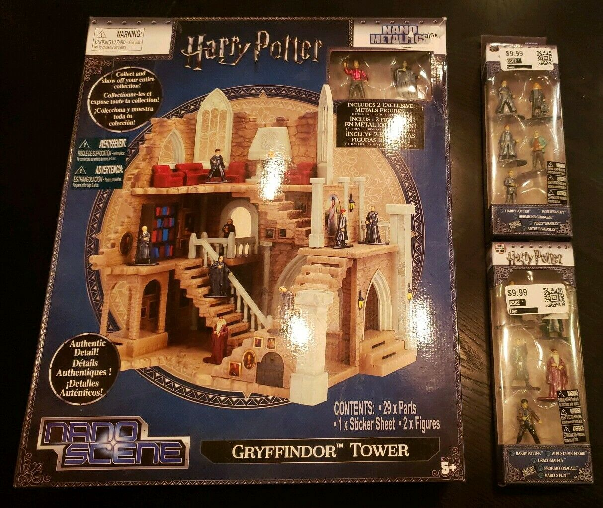 New  Nano Metalfigs Harry Potter Lot Gryffindor Tower Nano Scene & 10 figures