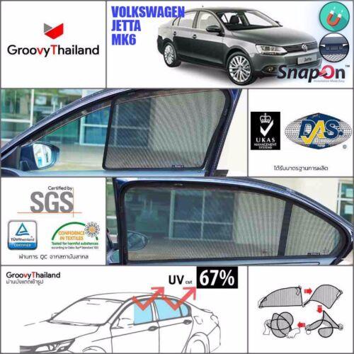 4 PCS SET CURTAIN BLIND SUN SHADE FIT FOR VW JETTA MK6 SEDAN MAGNETIC SNAPON