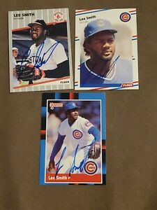 Lee Smith Signed/autograph (3) Cards Cubs Red Sox