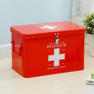 Image Is Loading Large First Aid Case Kit Emergency Metal Case