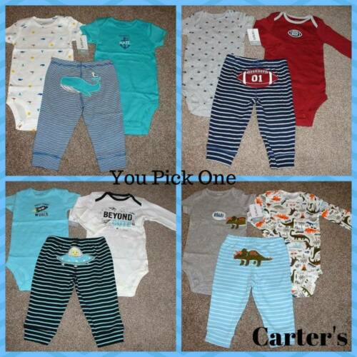 Carter/'s Baby Boy 3pc Outfit Set Size NB 3 6 9 12 18 Months Newborn NWT Clothes