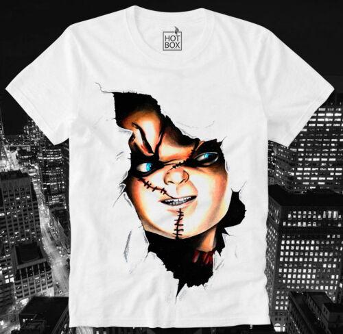 Hotbox T shirt Chucky meurtrier poupée child/'s Play Horror Cult Culte Movie Splatter