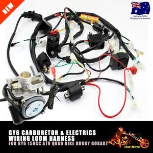 s l300 gy6 150cc carby electrics wiring harness quad atv buggy kinroad gy6 buggy wiring harness at gsmx.co