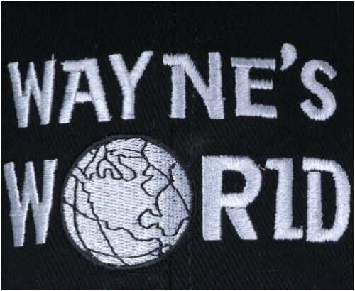 WAYNE/'S WORLD CAP Black Wayne Baseball Cap Hat Ajustable