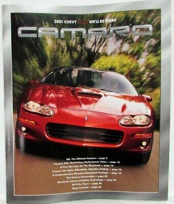 2001 chevrolet camaro ss z28 coupe sales brochure ebay ebay