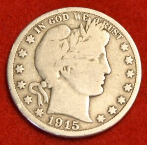 1915-D-50C-BARBER-HALF-DOLLAR-VG-BEAUTIFUL-COIN-CHECK-OUT-STORE-BH409