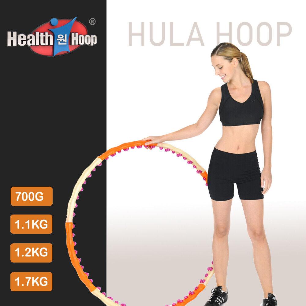 HEALTH HOOP® Jemimah 1,7kg Fitness Hula Hoop Reifen 96 Massagenoppen Magnete