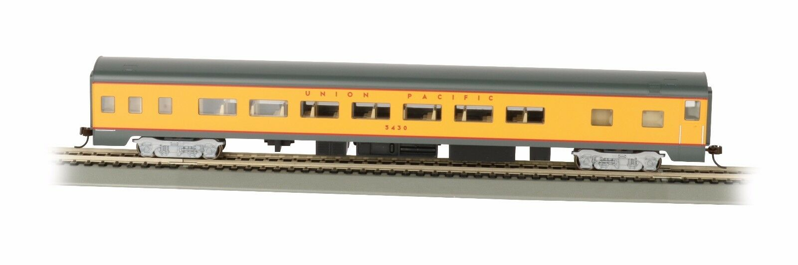 HO-Gauge - Bachmann - Union Pacific - 85' Smooth-Side Observation Car