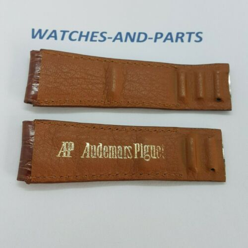 Audemars Piguet AP Brown Crocodile Leather Strap 20/18 NOS GENUINE NEW