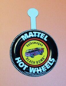 NM HOT WHEELS Mattel Vintage Redline DEORA Tin Button Badge