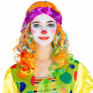 Perruque-de-clown-longue-afro-boucles-carnaval-halloween-hippie-pop-star-costume