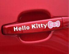 X2 Manija De Hello Kitty increíble Automóvil Pegatinas Calcomanías, gráficos Vinilo (Blanco)