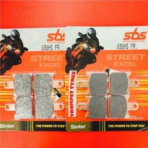 Kawasaki-ZZR-1400-06-gt-ON-Front-Fast-Road-Brake-Pads-SBS-838HS-OE-QUALITY