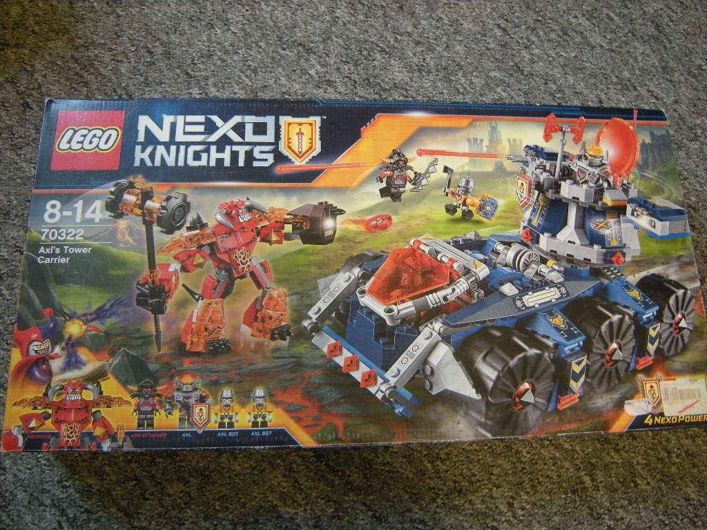 Lego NEXO Knights Axl's Tower Tower Tower Carrier 8-14 Jahre Nr. 70322 OVP 023d79