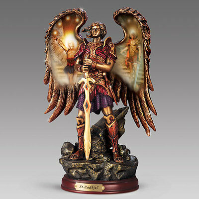 Selaphiel Prayer of God Angel Figurine Archangels of Light Bronze Sculpture