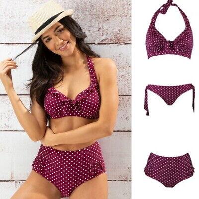 Pour Moi Hot Spots Sangria Underwired Bikini Top Control or Tie Bikini Brief