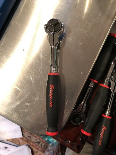 """Snap-On NEW 1//4/"""" Drive Red Soft Grip Round Swivel Head Ratchet THNF72"""