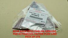 CHROME REAR BACK LOGO EMBLEM GENUINE FOR MITSUBISHI TRITON PLUS L200 2005-2014