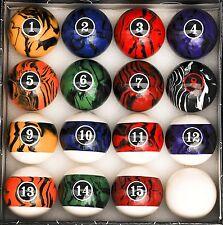 Pool Table Accessories Billiard Cue Ball Complete Set Dark Color Marble Swirl
