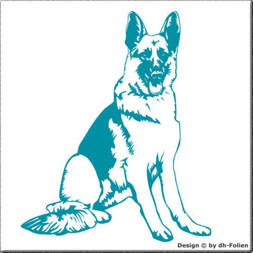Wandtattoo Wandsticker Hund Motiv wall-refine WH-00047 SCHÄFERHUND sitzend