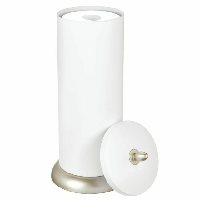 Glacier Bay Freestanding Toilet Tissue Paper Holder//Storage Chrome Bath Decor