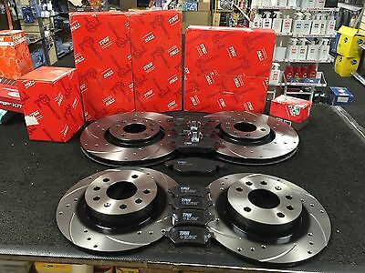 Opel Astra Zafira GSi Drilled Grooved Brake Discs Rear