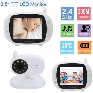 3 5 zoll funk wireless babyphone baby monitor mit kamera nachtsicht musik video ebay. Black Bedroom Furniture Sets. Home Design Ideas