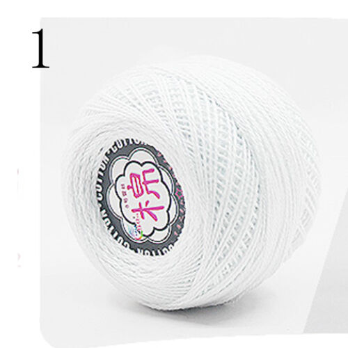 Sale Ball WOOL Cobweb Lace Embroidery yarn Double knitting 100/% cotton DK 50g