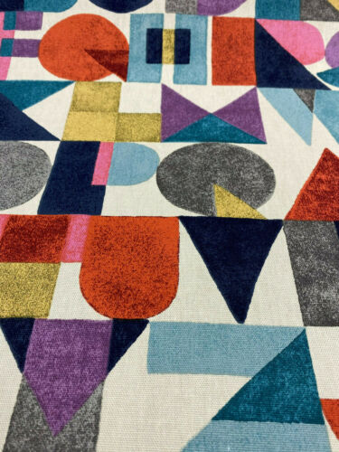 Block Letters Waverly Novogratz Spice Multi Purpose Fabric By the Yard