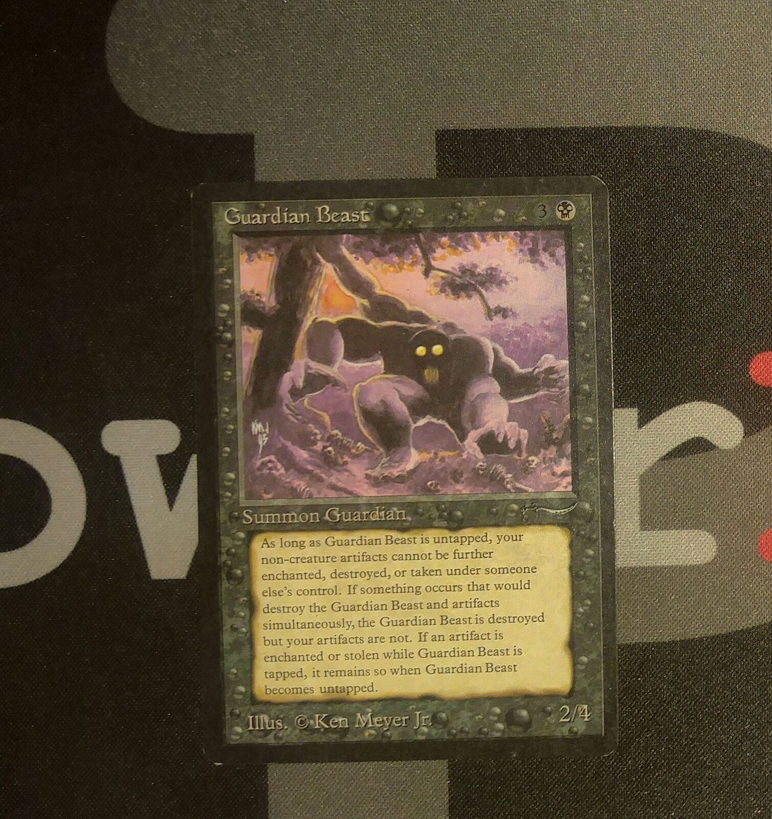 1 Guardian Beast-Arabian Nights MTG Magic Negro Rare Old School 9394