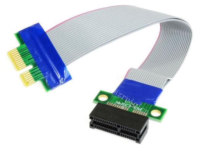PCI-E 1X Riser Card PCI Express Ribbon Extender Cable FOR 1U/2U