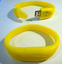 8GB polso Band Bracciale USB 2.0 Memory Stick-GIALLO-GRATIS 1st Class consegna